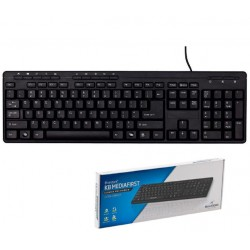 Bluestork Teclado Multimedia USB Negro