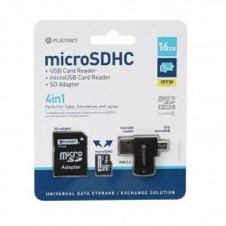 Platinet 8Gb C10 MicroSD + ADAP OTG