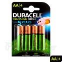 Duracell AA Recargable 4Ud Turbo