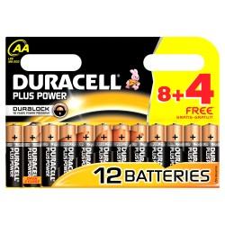 Duracell AA 1,5V 12Ud Alcalina Plus Power