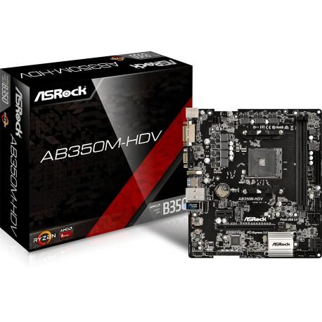 Asrock AB350M-HDV, AM4, uATX 2xDDR4