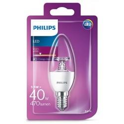 PHILIPS E14 Consumer LED Vela 5.5-40W B35 2700K