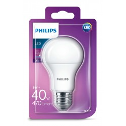 PHILIPS E27 Consumer LED 5-40W A60 6500K GL ND