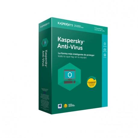 Kaspersky Antivirus 2018 3 Licencias