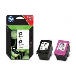 HP 62 Pack Negro y Color