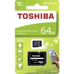 Toshiba microSDXC 64GB, Clase 10, Adaptador