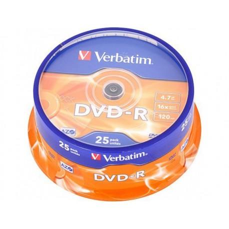 Verbatim dvd-r 16x, Tarrina 25