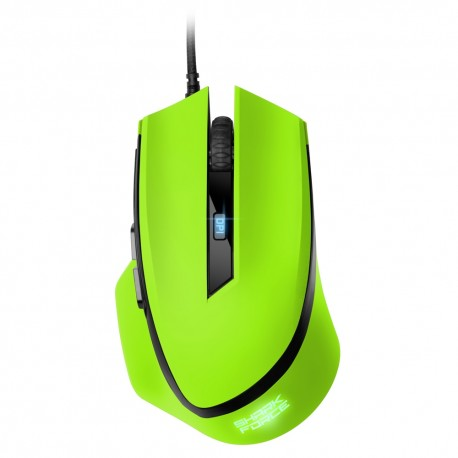 Sharkoon SHARK Force, Óptico, USB, 1600dpi, Verde