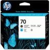 HP Cabezal 70 Negro Mate/Cian