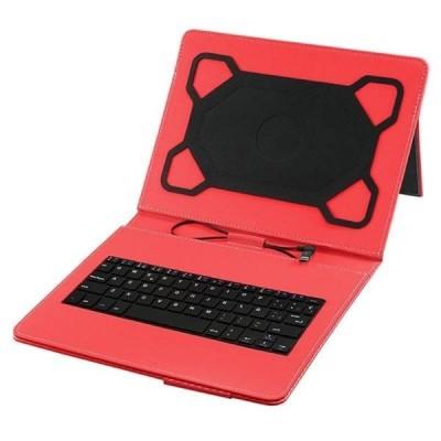 Funda con teclado usb hasta 10,1 Roja