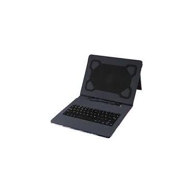 Funda con teclado usb hasta 10,1 Negra
