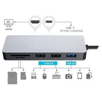 Platinet Adaptador 7 en 1 USB C