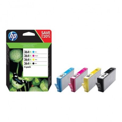 HP 364XL Pack Negro + Colores