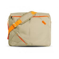 "Bandolera Traveller 210 Grey & Orange 15.6"""