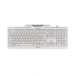 Cherry Teclado+Lector Chip Integrado (DNIe) Blanco