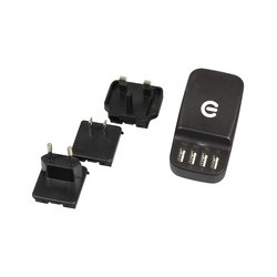 Estuff Cargador universal de pared 4 puertos USB
