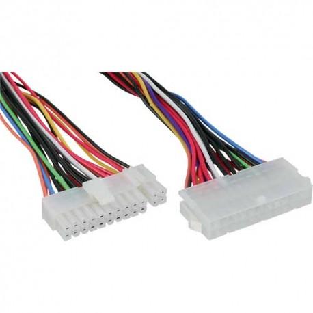 Inline Alargador conector Alimentación 20+4 45cm