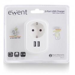Ewent cargador tablet/smartphone. 3.1A. 2 X USB