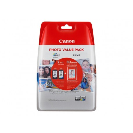 Canon PG545XL/CL546XL Pack 2xXL 50 Hojas