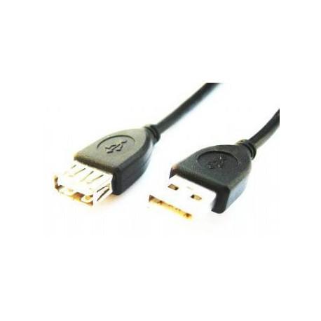 Gembird 1.8m USB 2.0 A M/FM, Macho/Hembra, Negro