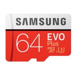 Samsung EVO+ 64GB, C10, adaptador