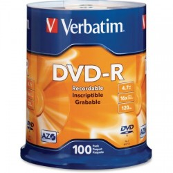 Verbatim dvd-r 16x, Tarrina 100 discos