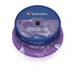 Verbatim dvd+r Azo, 16x, Tarrina 25