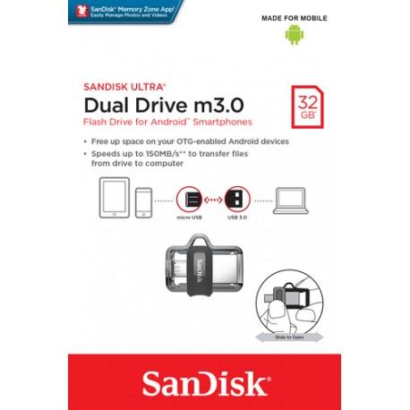 Sandisk 32GB Ultra Dual Drive M3.0, USB/microUSB