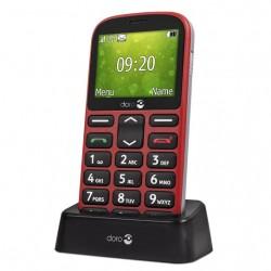 Doro 1361, teléfono móvil senior, Rojo