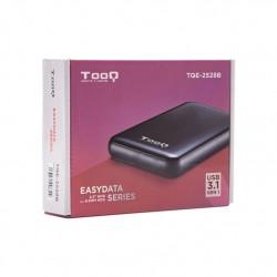 """Tooq Caja externa HD 2,5"""", SATA, USB 3.1, Negra"""