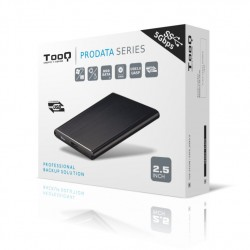 """Tooq Caja externa HD 2,5"""", USB 3.0, Negra, Slim"""