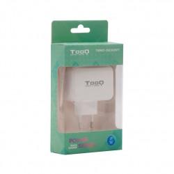 Tooq Cargador de Pared doble puerto, USB-C/USB A