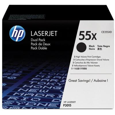 HP CE255X Laserjet 55X Negro Dual Pack