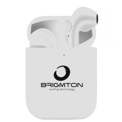 Brigmton Auriculares Bluetooth 5.0 Blanco