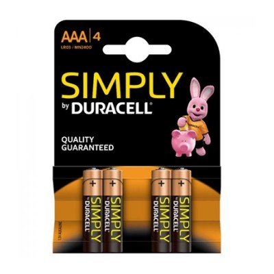 Duracell AAA 4Ud Simply