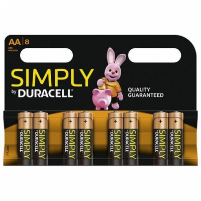 Duracell AA 8Ud Simply