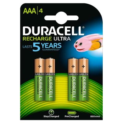 Duracell AAA 900mAh 4Ud Recargable