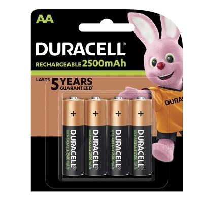 Duracell AA 2500mAh 4Ud Recargable