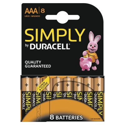 Duracell AAA 8Ud Simply