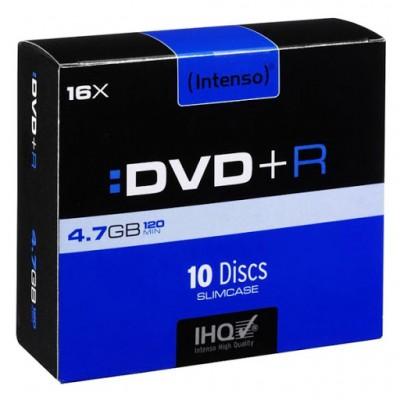 Intenso DVD+R 4.7GB, 16x Caja 10 unidades Slim