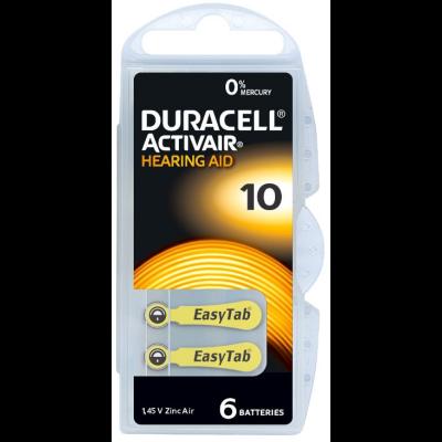 Duracell Pila audífono PR70 DA10 1,45V Pack 10Ud
