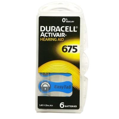 Duracell Pila audífono PR44 DA675 1,45V Pack 10Ud