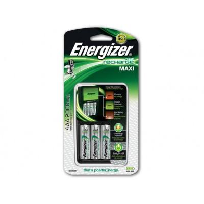 Energizer Cargador de Pilas + 4 Pilas AA 2000mAh