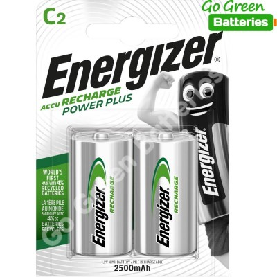 Energizer C HR14 Recargable 2500mAh Power Plus