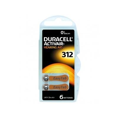 Duracell Pila audífono PR41 DA312 1,45V Pack 10Ud