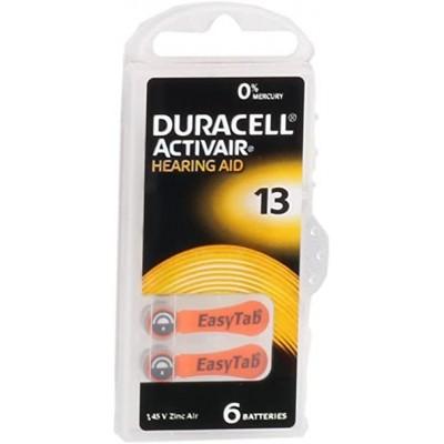 Duracell Pila audífono PR48 DA13 1,45V Pack 6Ud