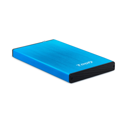 Tooq Caja externa HD 2,5, SATA, USB 3.0, Azul