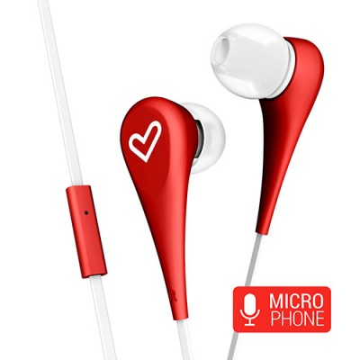 Energy Earphones Style 1+ Micrófono Red