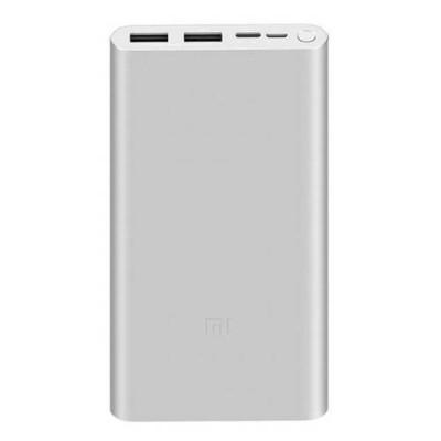 Xiaomi Mi Power Bank 3S, 10000mAh, Plata
